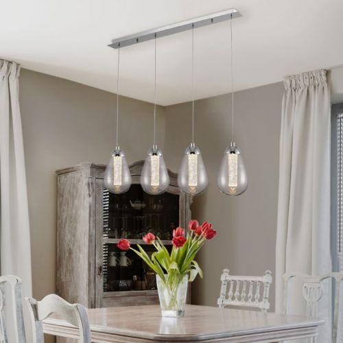 Schuller Taccia 394460 LED Bar Ceiling Pendant 4 Light Chrome