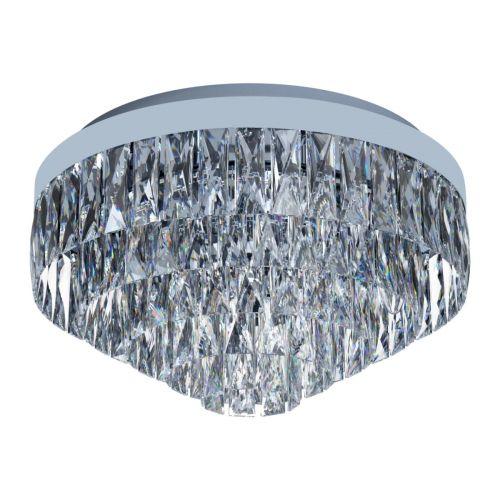 Eglo Ceiling Light 8 Light E14 Chrome/Crystals Valparaiso 1 39489