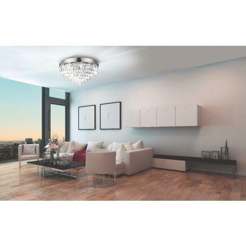 Eglo Ceiling Light 11 Light E14 Chrome/Crystals Valparaiso 1 39491