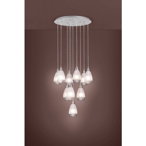 Eglo Ceiling Light E27 10 Light Pendant Siracusa 39503