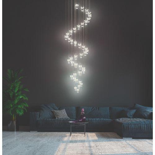 Eglo Pendant LED 40 Light Chrome/Crystal Pianopoli 1 39545