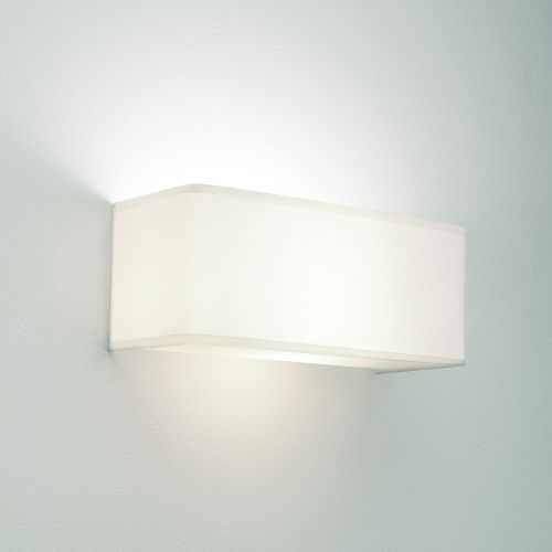 Astro Ashino Wide Indoor Wall Light in White Fabric 1166002