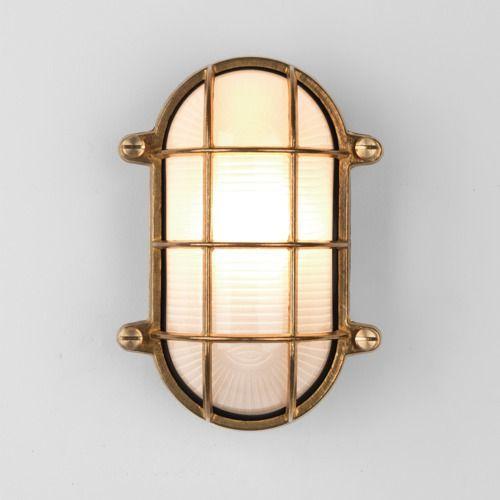 Astro Thurso Oval Coastal Wall Light in Coastal Natural Brass 1376002