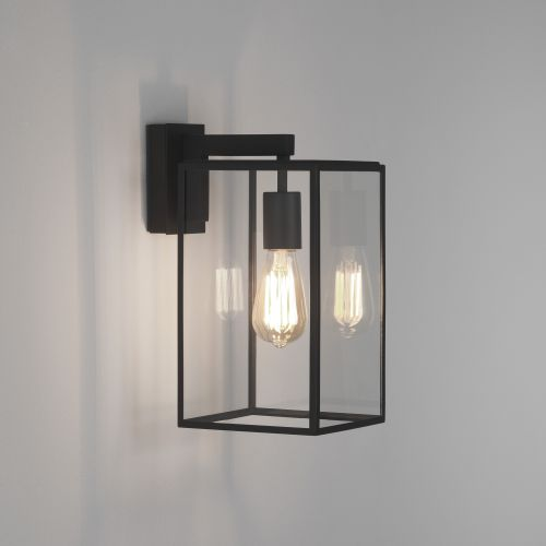 Astro Box Lantern 350 Outdoor Wall Light in Textured Black 1354004
