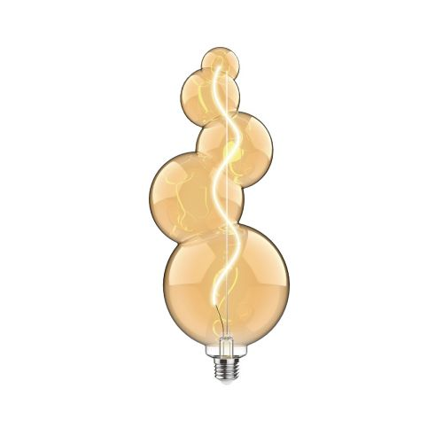 E27 LED Amber Bulb 4Watt Extra Warm White 2100K Type A1 Dimmable