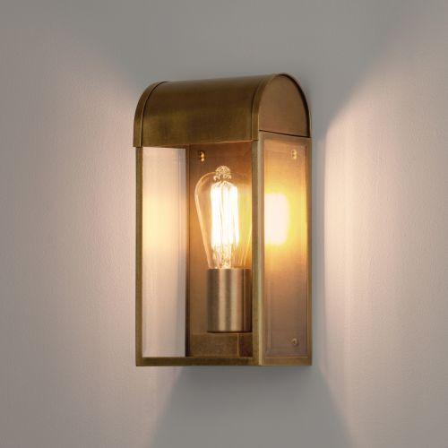 Astro Newbury Outdoor Wall Light in Antique Brass 1339003