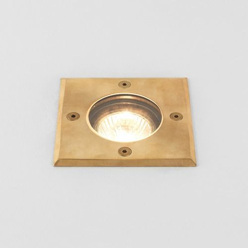 Astro Gramos Square Coastal Ground Light in Coastal Natural Brass 1312004