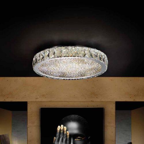Schuller Dana 456231 LED Ceiling Flush Light Fitting Chrome