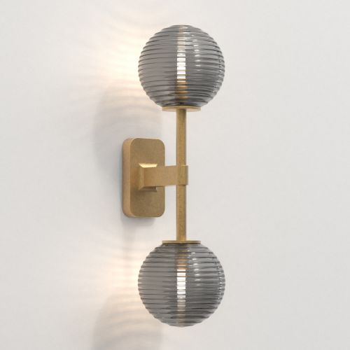 Astro Tacoma Twin Bathroom Wall Light in Antique Brass SHADES NOT INCLUDED 1429008