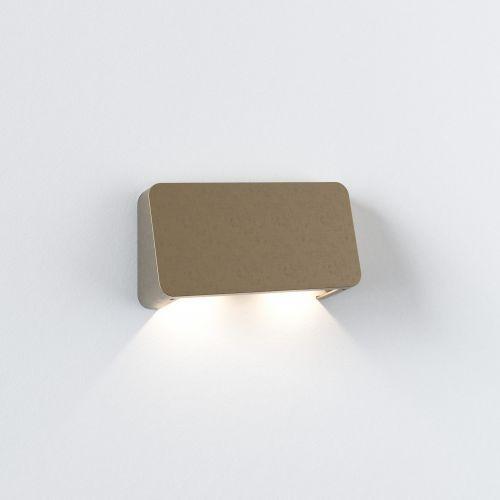 Astro Incline Twin Coastal Wall Light Coastal Brass 1419004