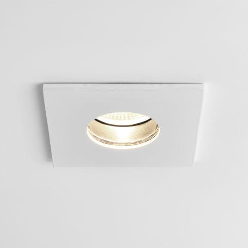 Astro Obscura Square Bathroom Downlight in Matt White 1381008