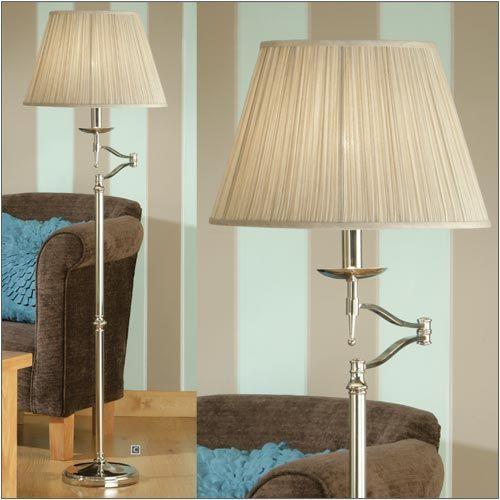Interiors 1900 Stanford Swing Arm Floor Lamp Nickel 63623
