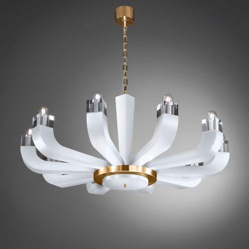 Kolarz Riviera 10 Light Chandelier White 5201.81030