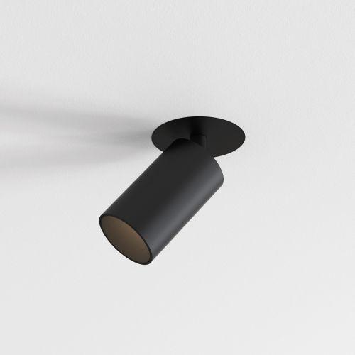 Astro Can 50 Flush Fire-Rated Indoor Spotlight in Matt Black 1396018