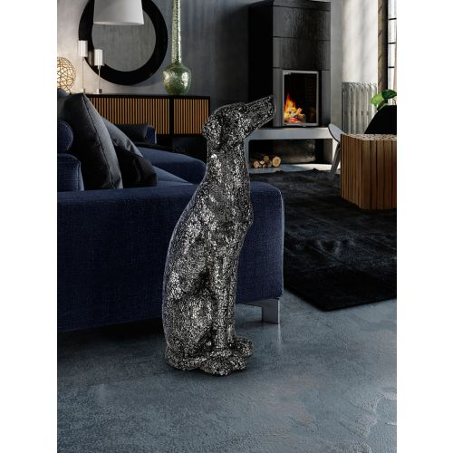 Dogo Greyhound decorative Figure Black/Silver