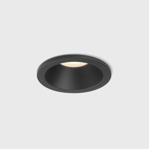 Astro Minima Round Fixed IP65 Bathroom Downlight in Matt Black 1249017