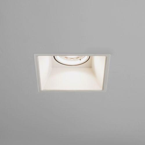 Astro Minima Square Fixed Indoor Downlight in Matt White 1249007