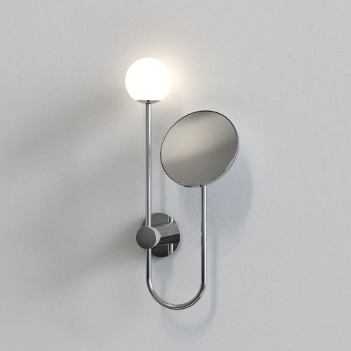 Astro Orb Bathroom Magnifying Mirror in Polished Chrome 1424001