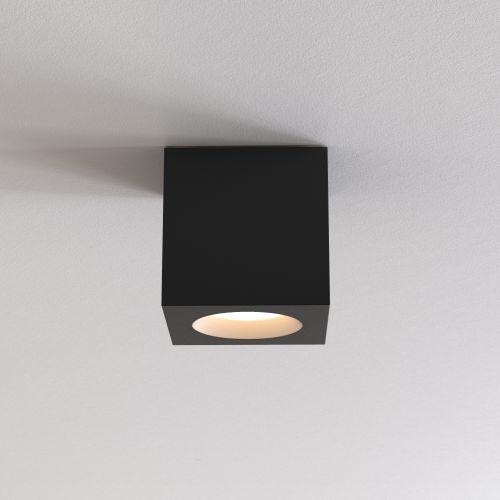 Astro Kos Square II Outdoor Downlight in Textured Black 1326044
