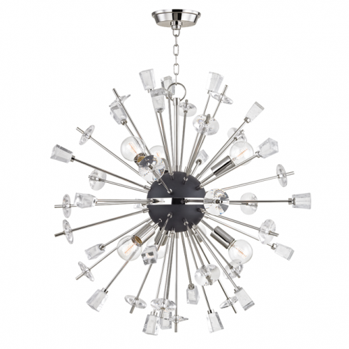 Ceiling Pendant 6 Light Polished Nickel Hudson Valley Liberty 5032-PN-CE