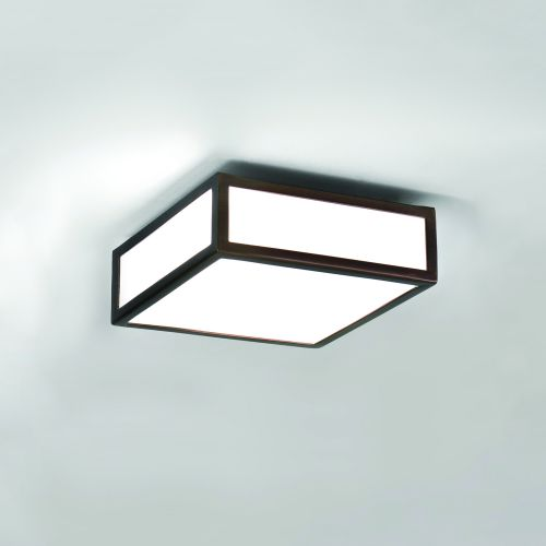 Astro Mashiko 200 Square Bathroom Ceiling Light in Bronze 1121056