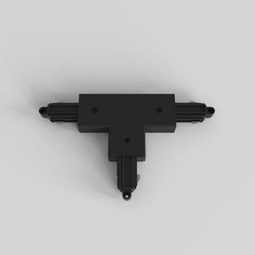Astro T Connector Left Farside Earth Track in Matt Black 6020028