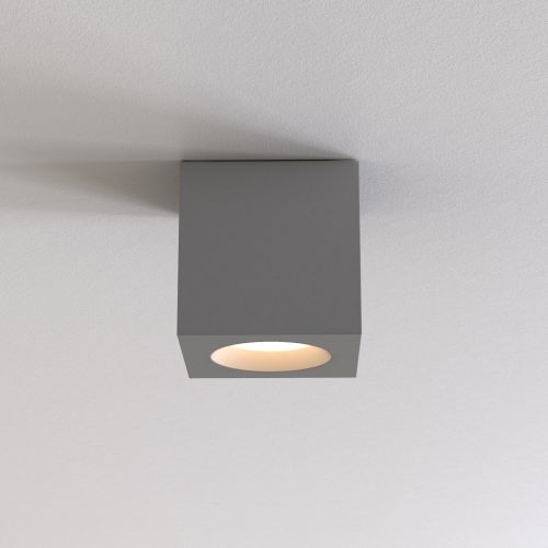 Astro Kos Square II Bathroom Downlight in Textured Grey 1326045