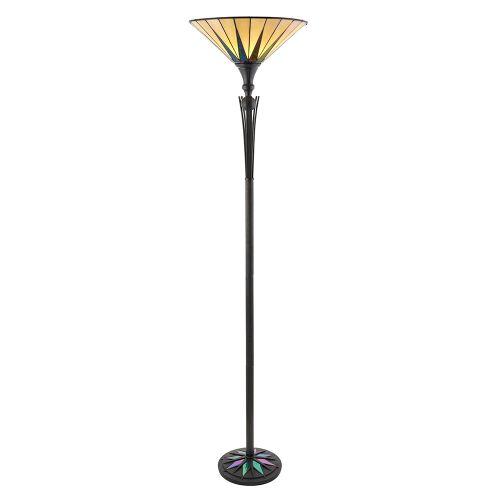 Interiors 1900 Tiffany Dark Star Uplighter Floor Lamp 64042