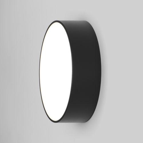 Astro Kea 250 Round Outdoor Wall Light in Textured Black 1391004