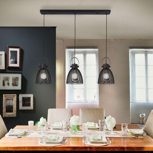 Schuller Tabatha 650274 Bar Ceiling Pendant 3 Light Black