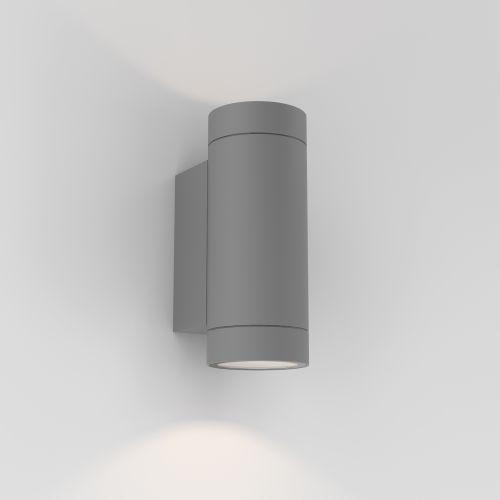 Astro Dartmouth Twin GU10 Outdoor Wall Light in Textured Grey 1372013