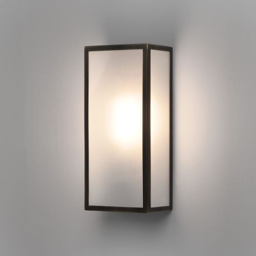 Astro Messina Frosted Outdoor Wall Light in Bronze 1183009