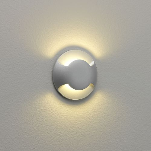 Astro Beam Two LED Outdoor Marker Light in Matt Silver 1202002