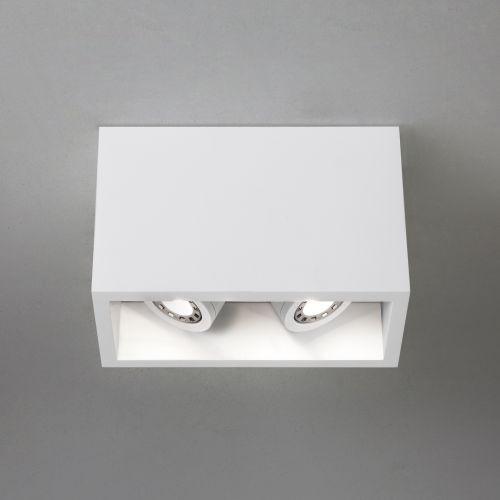 Astro Osca Twin 140 Adjustable Indoor Downlight in Plaster 1252005