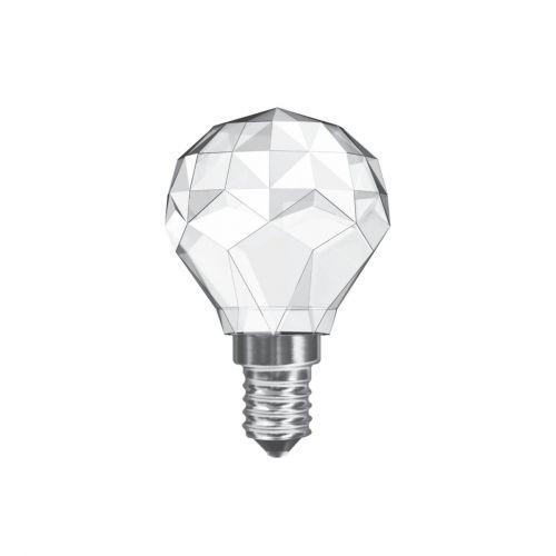 Crystal Golf Ball E14 LED Bulb 3Watt Warm White 3000K Non-Dimmable