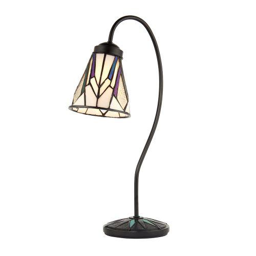 Interiors 1900 Tiffany Ashton Swan Neck Table Lamp 74364