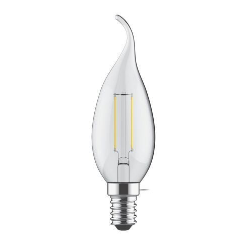 Bent Tip Candle E14 LED Bulb 4Watt Warm White 2700K Non-Dimmable
