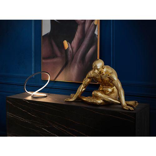Yoga Man Large Decorative Figure Gold Leaf