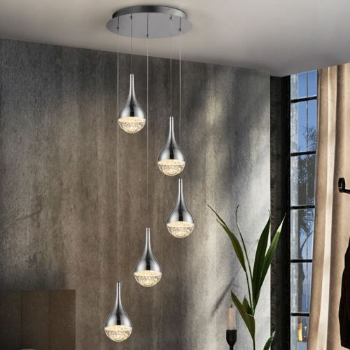 Schuller Elie 773572 LED Ceiling Pendant 5 Light Chrome