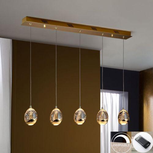 Schuller Rocio 783627D LED Bar Ceiling Pendant 5 Light Gold