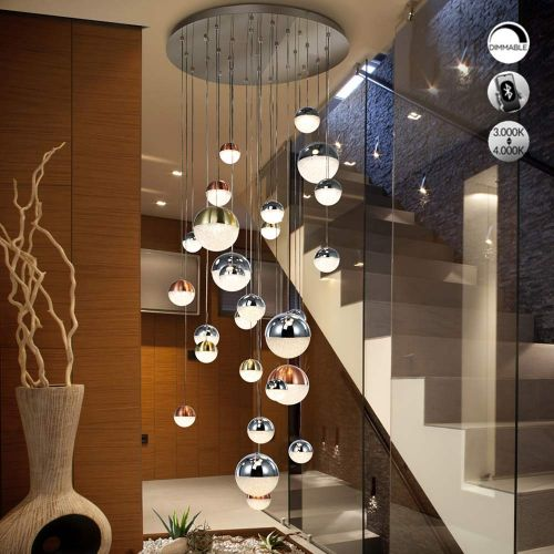 Schuller Sphere 793960K LED 27 Light Ceiling Cluster Pendant 3M Drop Multicoloured Bluetooth Dimmable 3000k-4000k
