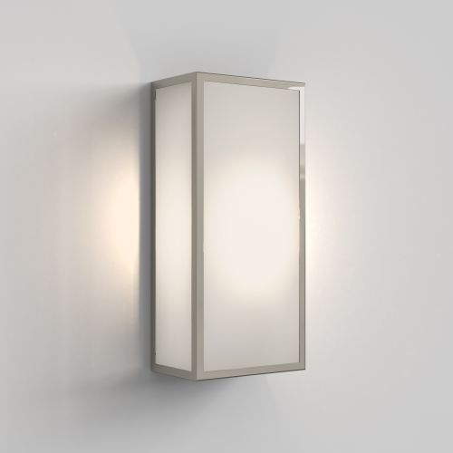Astro Messina 160 Frosted II Outdoor Wall Light in Polished Nickel 1183025