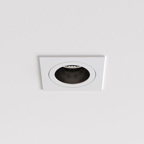 Astro Pinhole Slimline Square Fixed Fire-Rated IP65 Bathroom Downlight in Matt White 1434002