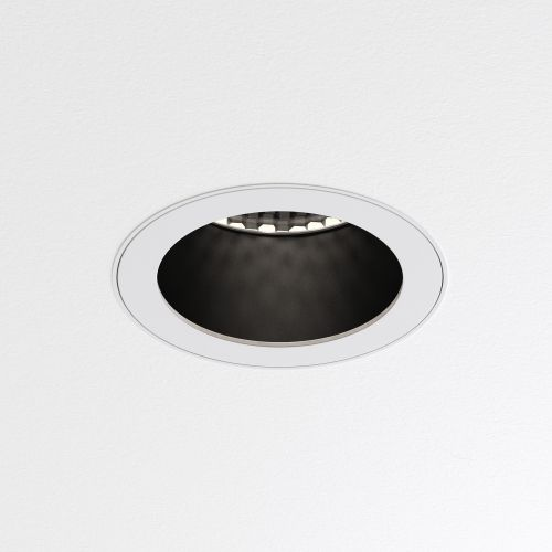 Astro Pinhole Slimline Round Flush Fixed Fire-Rated IP65 Bathroom Downlight in Matt White 1434007