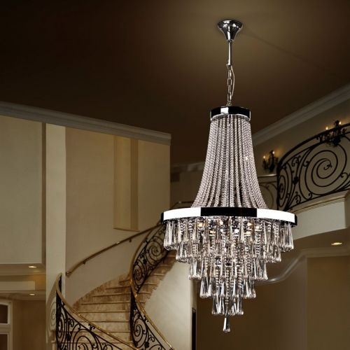 Schuller Palace 810637 Crystal Ceiling Chandelier 22 Light Chrome Smoked Crystal