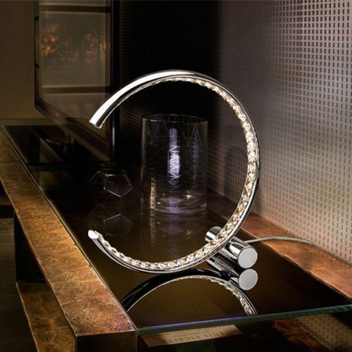 Schuller Celine 813075UK LED Crystal Table Lamp Chrome