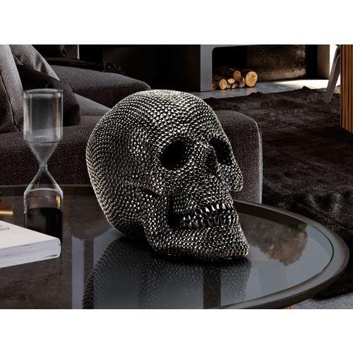 Calavera Small Skull Decorative Figure Glossy Black