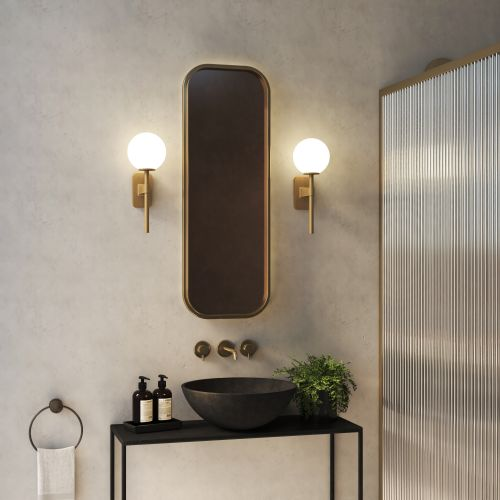 Astro Tacoma Single Bathroom Wall Light in Antique Brass SHADE NOT INCLUDED 1429007