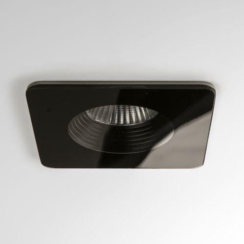 Astro Vetro Square Bathroom Downlight in Black 1254017
