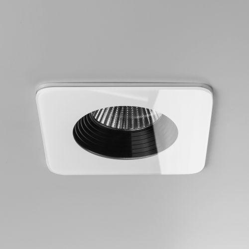 Astro Vetro Square Fire-Rated Bathroom Downlight in White 1254007